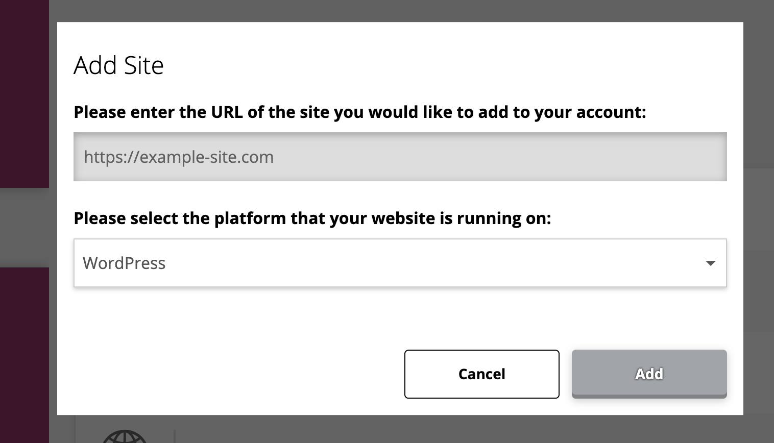adding a site in MyYoast