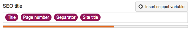 seo title - snippet variables