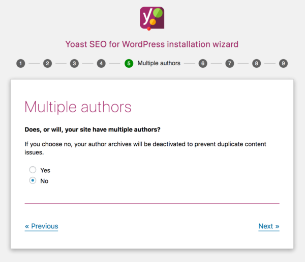 Yoast SEO configuration wizard step 5