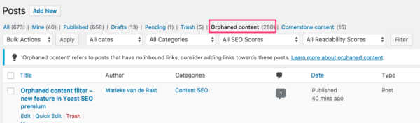 improve your site structure by adding internal links to your orphaned content