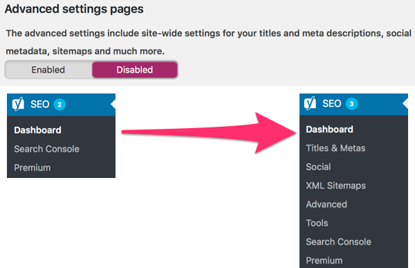 beginner's guide to Yoast SEO: advanced settings pages