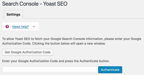 Search Console - Yoast SEO