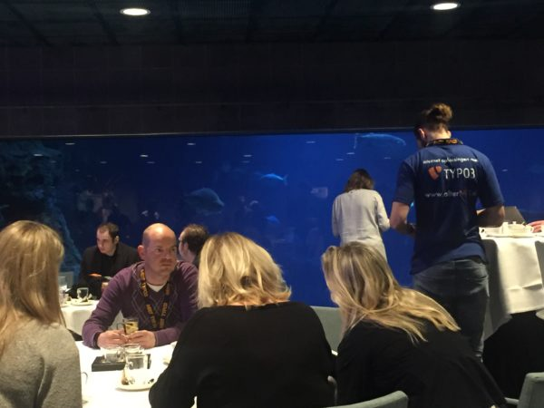 Meet TYPO3 in the Shark Room of Rotterdam Zoo