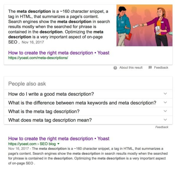Google search results for [meta description]