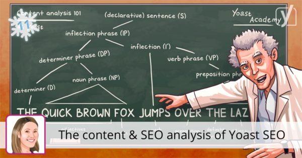 The content & SEO analysis of Yoast SEO