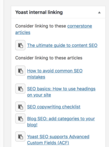 How to set up a cornerstone content strategy with Yoast SEO 1