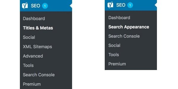 old vs new menu yoast seo 7.0