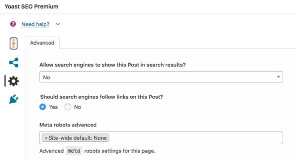 exclude post from sitemap