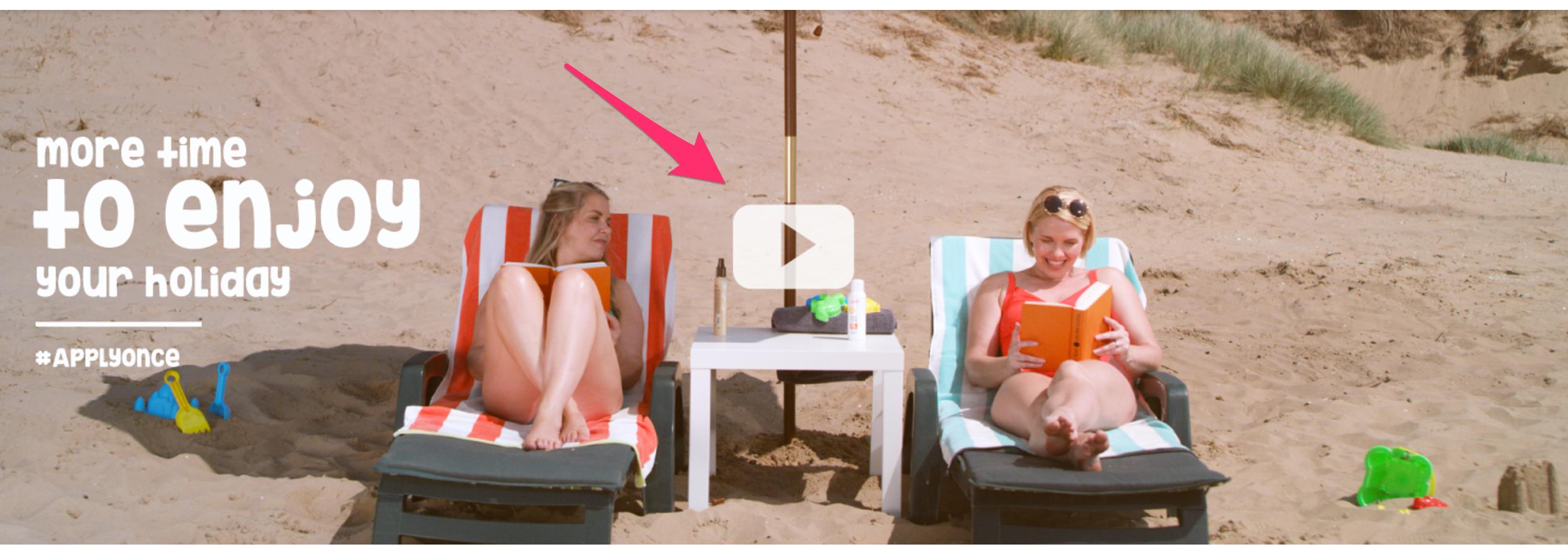 Slider image link to video