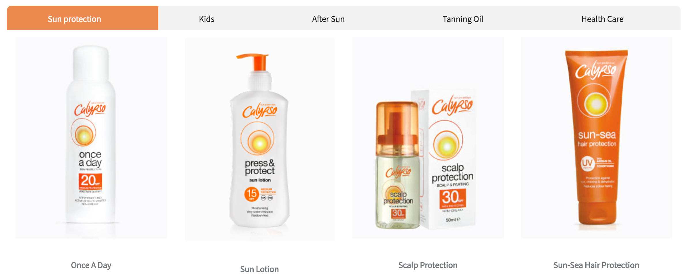 Product overview Calypsosun