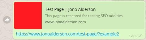 Test page Jono