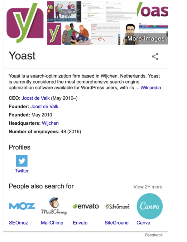 All about Google's knowledge panels • Yoast