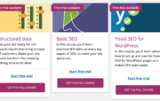 Try your free SEO lessons today: Yoast Academy trials available now