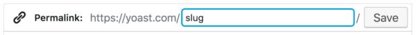 editing your slug in WordPress