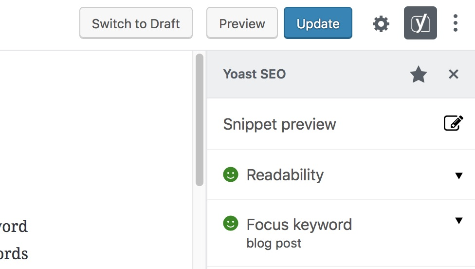 snippet preview button yoast seo 8.1