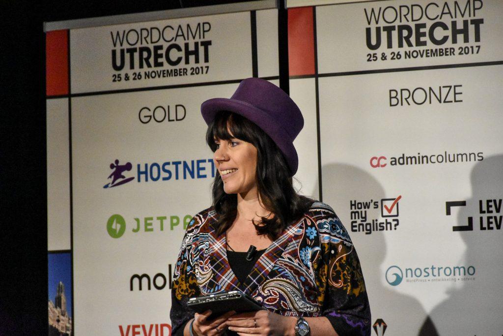 Carole Olinger at WordCamp Utrecht