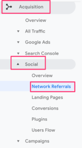 Network referrals to identify social traffic in Google Analytics