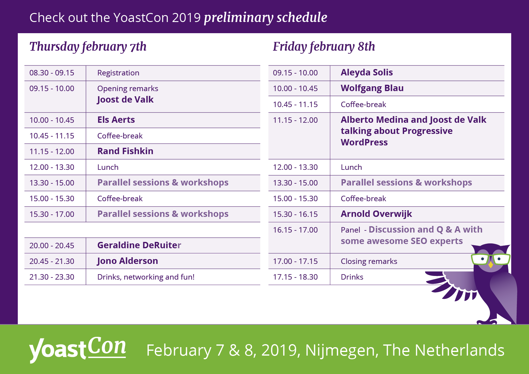 YoastCon schedule