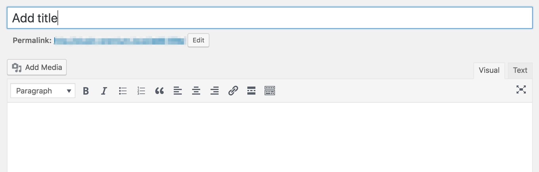 Add title box in WordPress Classic editor