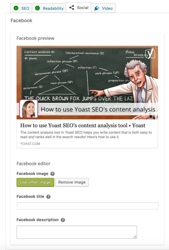 the social preview of yoast seo