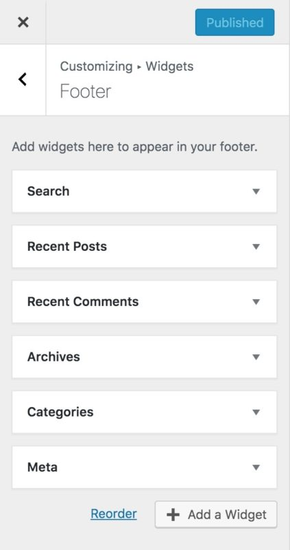 wordpress questions: how to add a footer