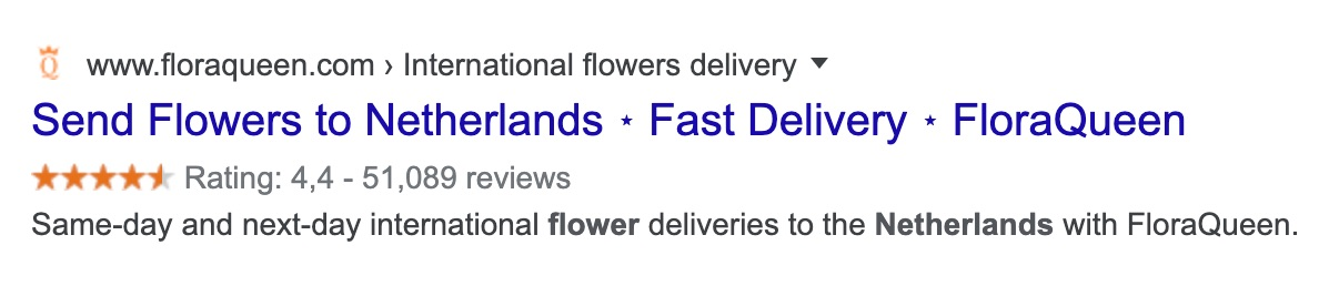 send flowers netherlands ratings
