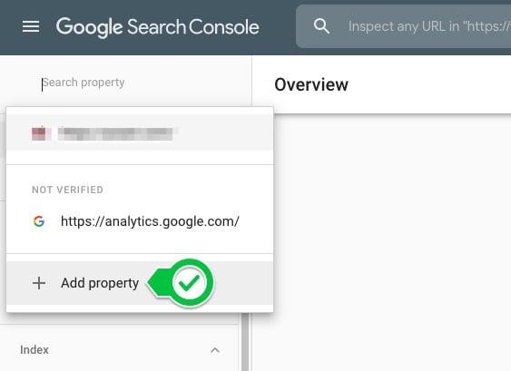 add property search console