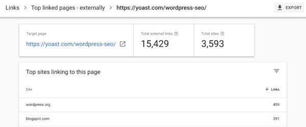 top link wordpress seo