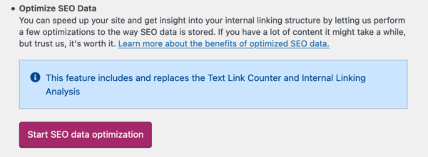 The SEO Data option under SEO - Tools