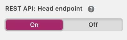 REST API Head endpoint toggle in Yoast SEO