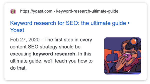 See the meta description in the Google preview in Yoast SEO