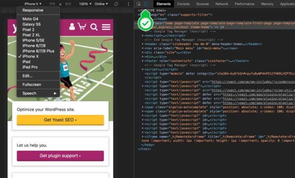 responsive design check web developer toolbar