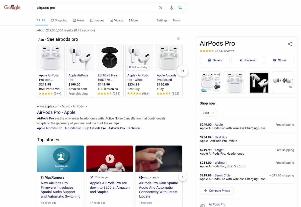 airpods pro product overview google