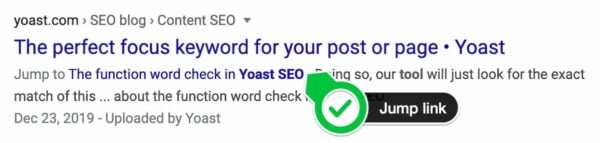 jump link yoast seo