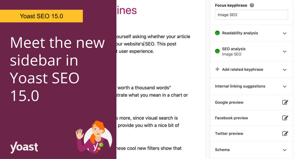 Yoast SEO 15.0: Support for Arabic, plus a new table of contents block