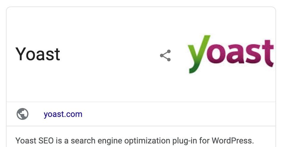 yoast logo knowledge panel