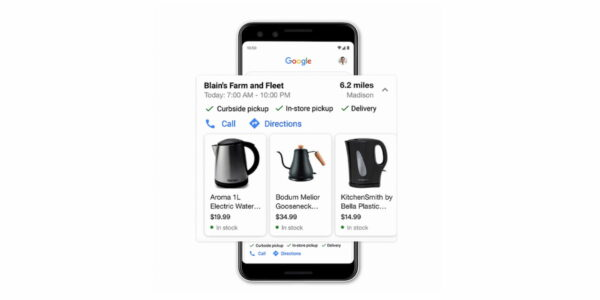 google nearby shopping