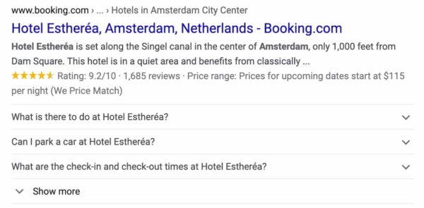 hotel amsterdam 2020