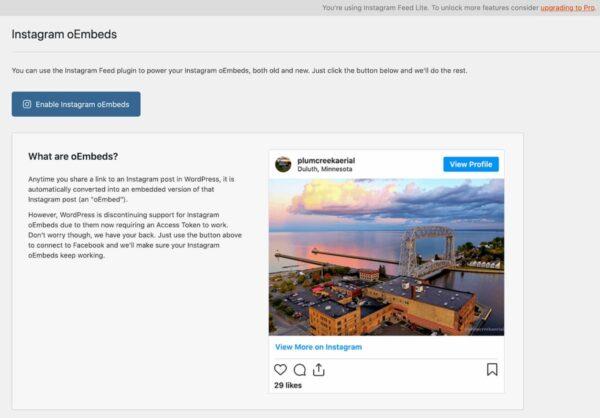 instagram oembeds plugin