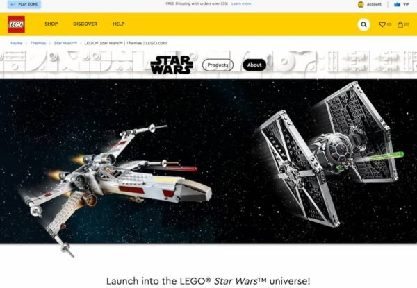 LEGO Star Wars theme page, to illustrate the importance of category pages optimization for ecommerce usability