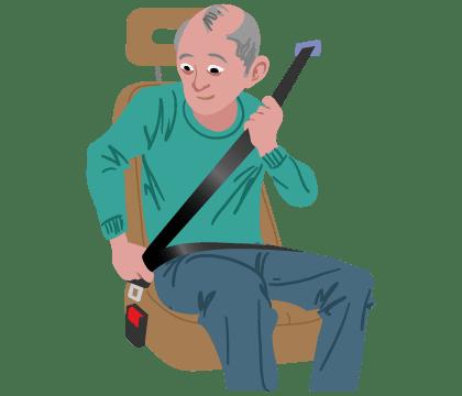 Illustration of Seat belt technology