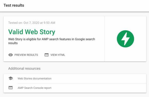 valid web story amp test