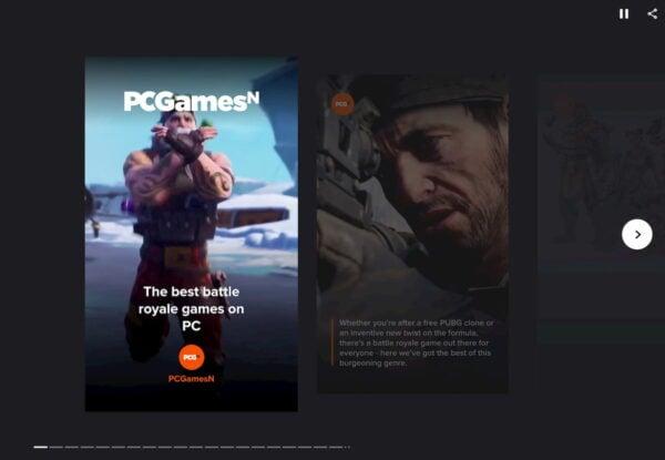 web stories examples pcgmesn