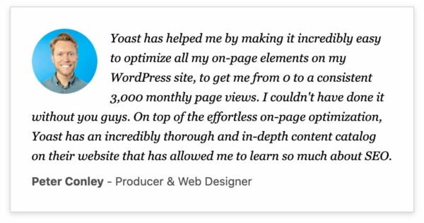 yoast testimonial