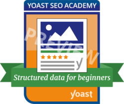 preview badge structured data for beginners course