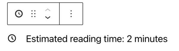 Estimated reading time block appears