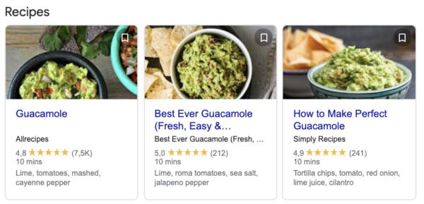 Guacamole Recipe Result
