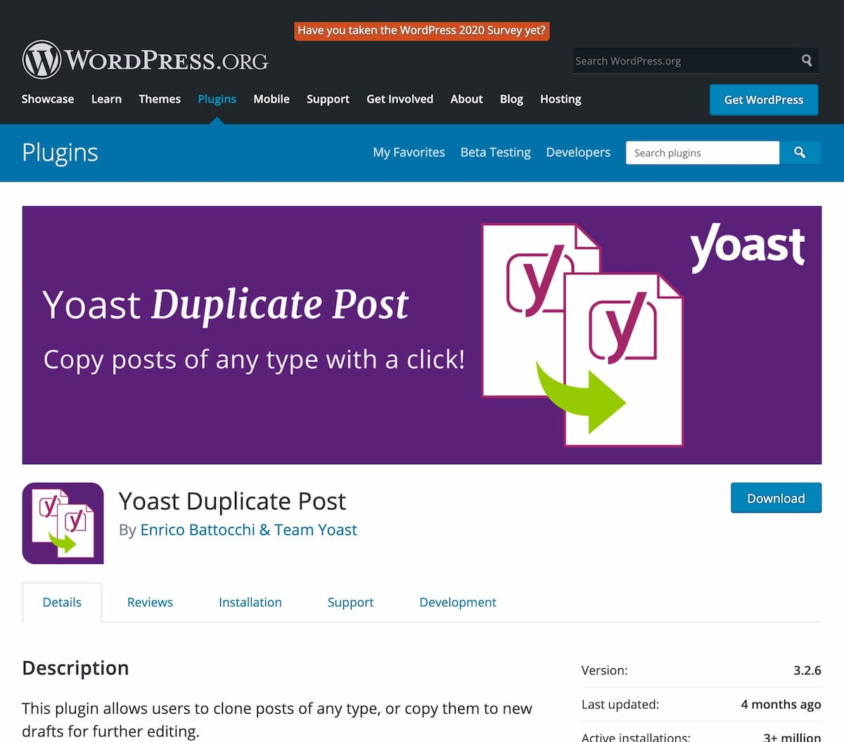 yoast duplicate post wordpress