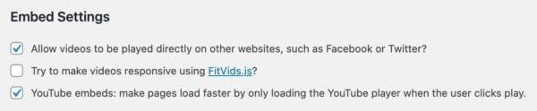yoast video seo embed settings