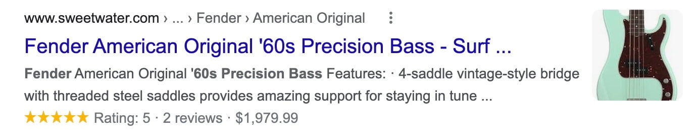 fender precision bass rich results 2021